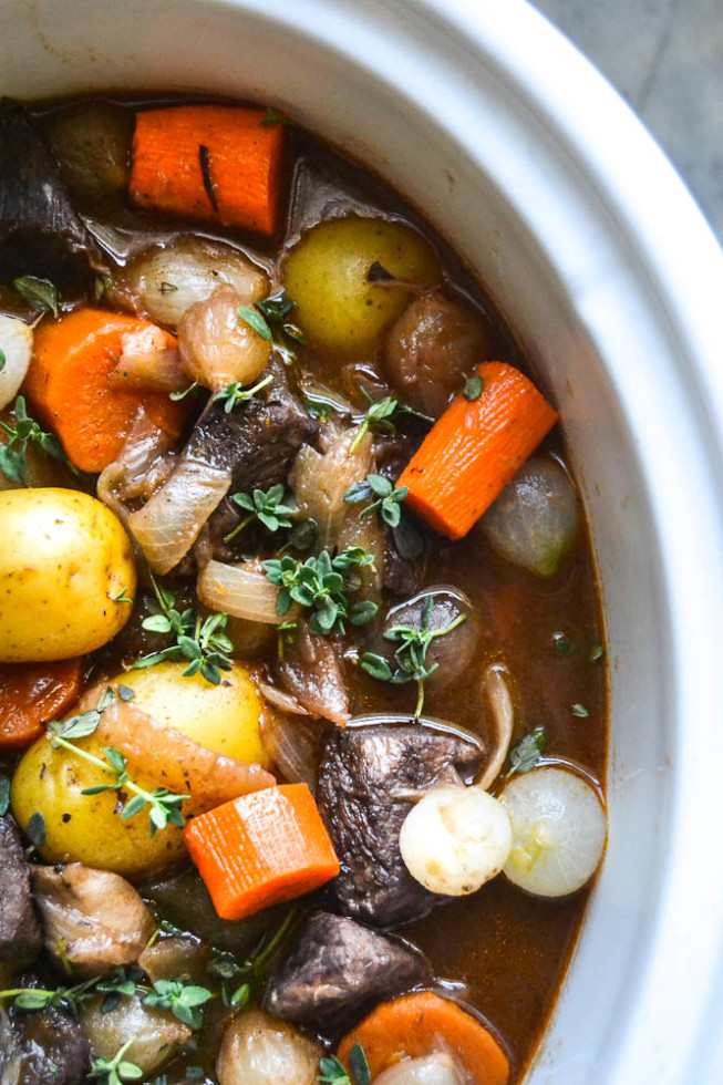 Easy Slow Cooker Recipe for Beef Bourguignon