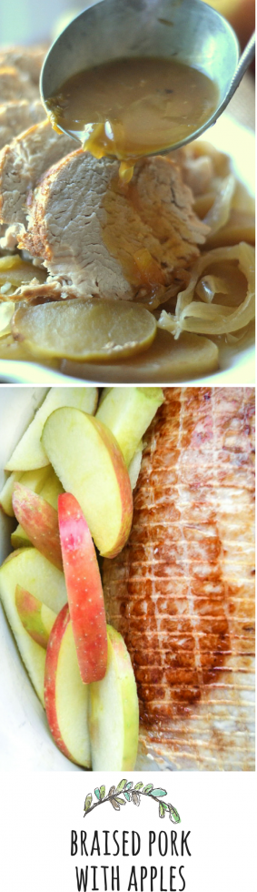 Cider Braised Pork with Apples and Onions is the ultimate fall meal!