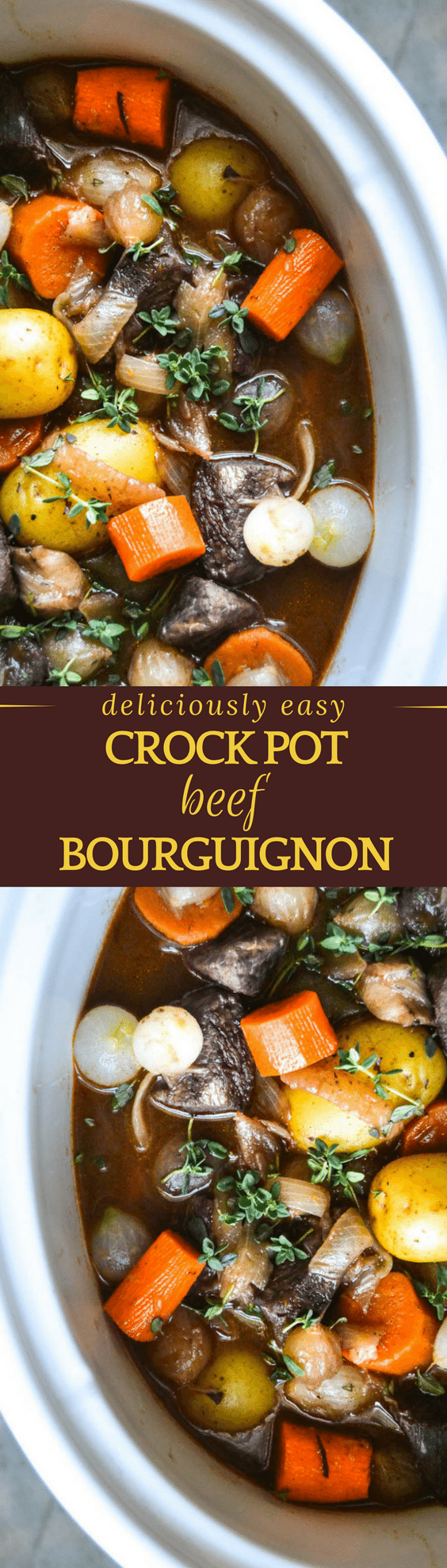 Slow Cooker/Crock Pot Beef Bourguignon pin
