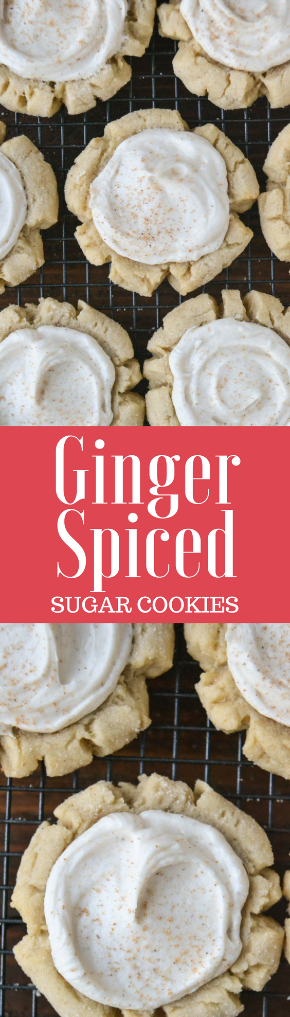 Ginger Spiced Sugar Cookies (Swig Copycat) ~ big fat buttery supermarket style frosted sugar cookies!