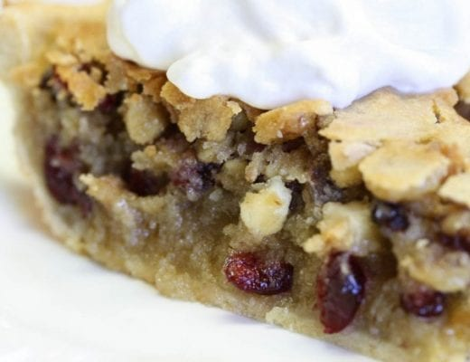 cranberry chocolate nut pie