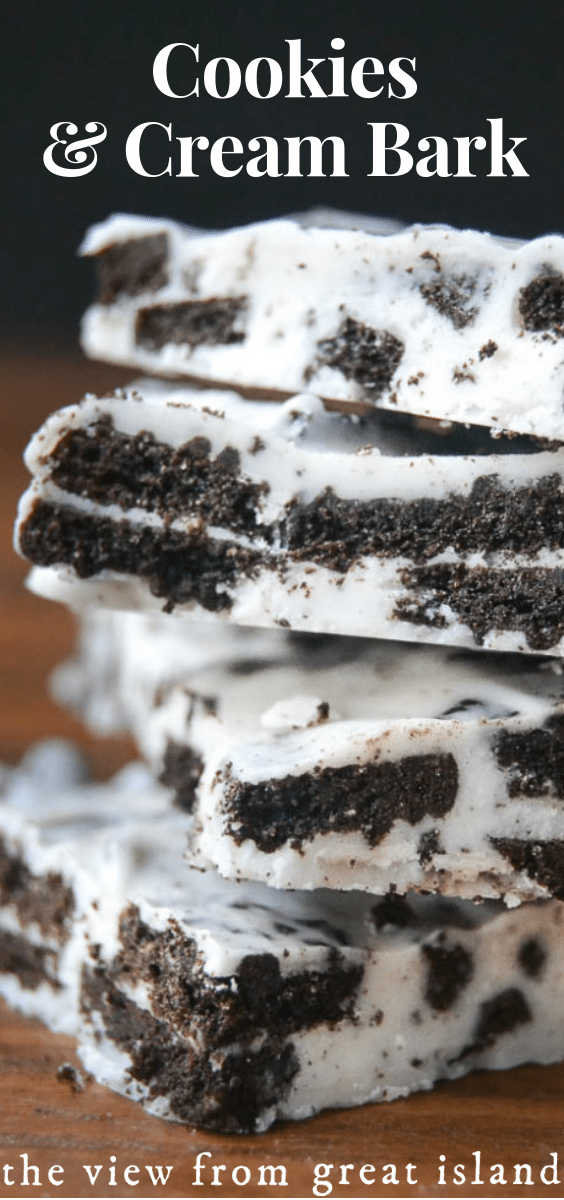 Cookies and Cream Bark pin.