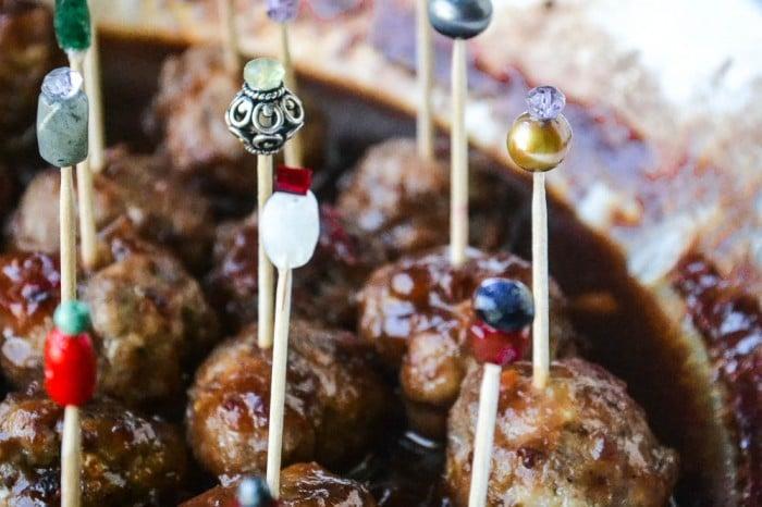 drunken cranberry meatballs-14