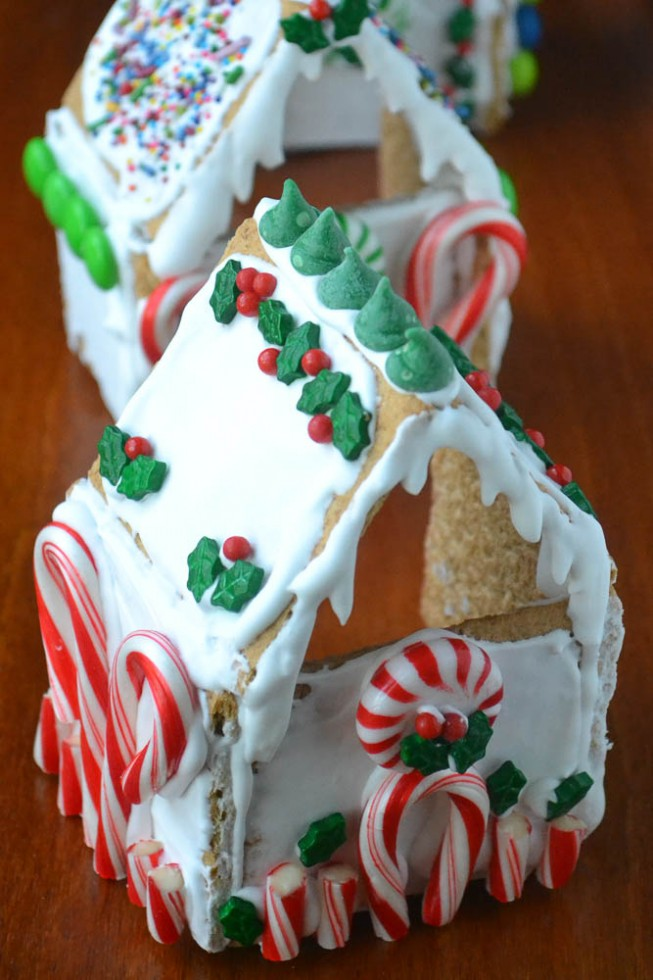 gingerbread votive holders