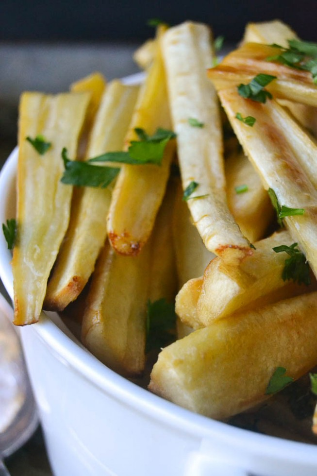 Honeyed parsnips