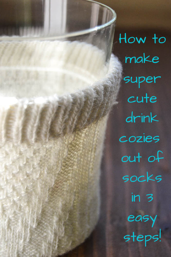"Craft tutorial for making cute and easy ""Drink Cozies"" out of socks!"