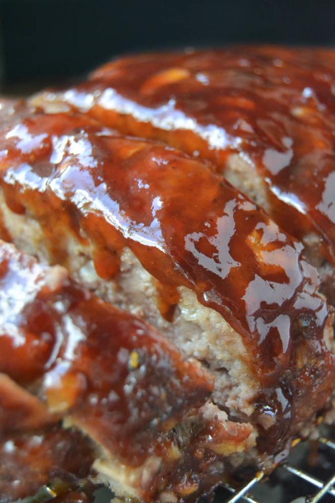 Classic meatloaf with a warm Bourbon glaze
