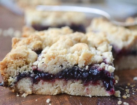 Peanut Butter and Jam Shortbread Bars
