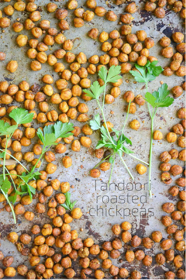 Chickpeas roasted with tandoori spices