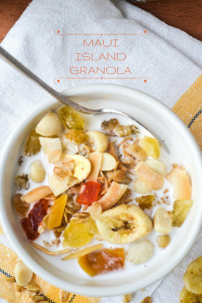 Granola with all the flavors of the tropics