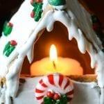 Graham Cracker Gingerbread House Votives