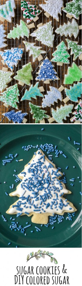 The perfect sugar cookie recipe plus a tutorial on making your own colored sugar