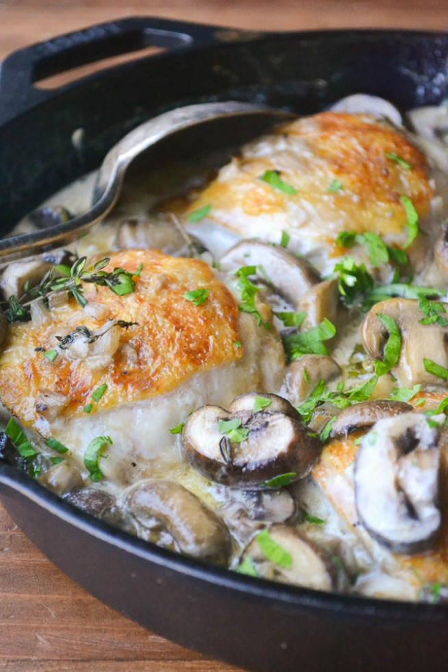 The Top Ten Posts of 2015 - Chiucken Thighs in a creamy Marsala mushroom sauce