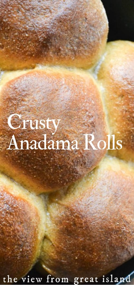 crusty anadama rolls the view from great island