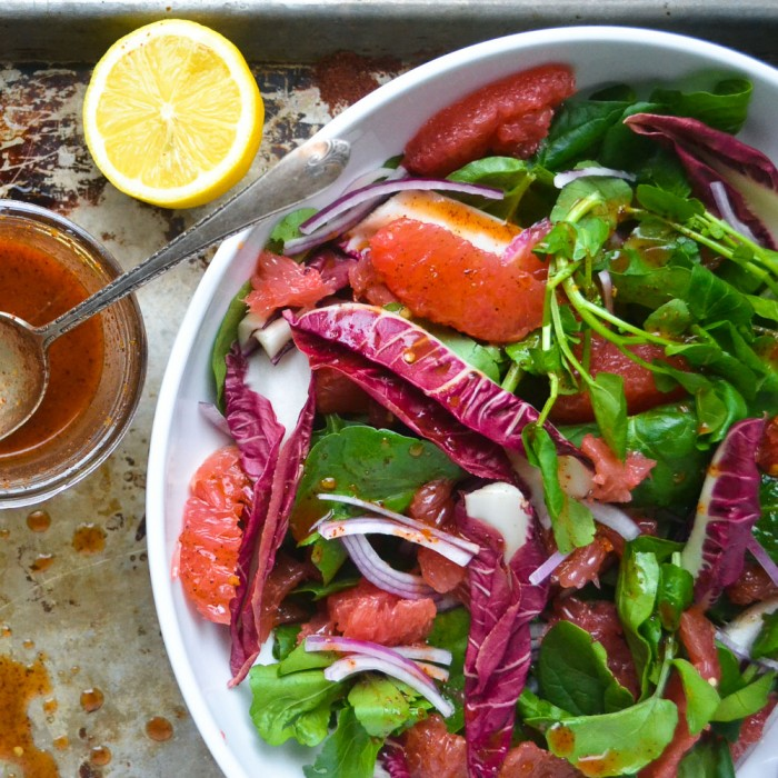 grapefruit and watercress salad with sumac