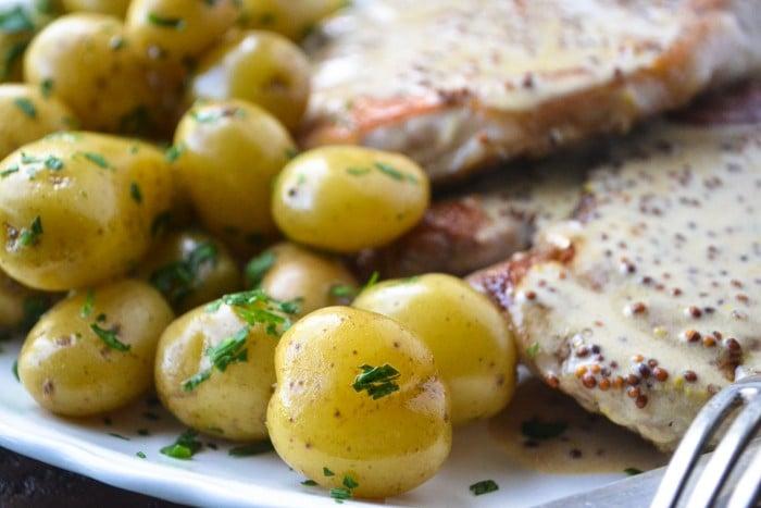 easy weeknight mustard pork chops