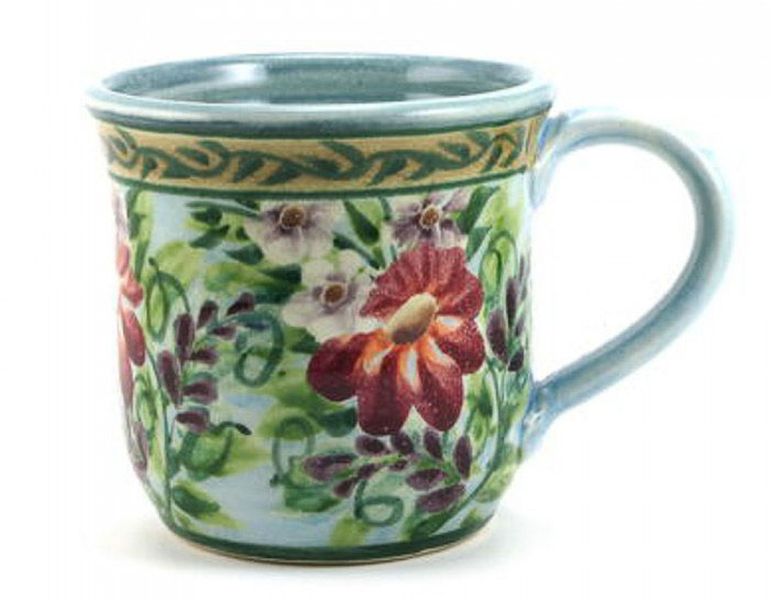 Sandy Kreyer Blue Floral Mug