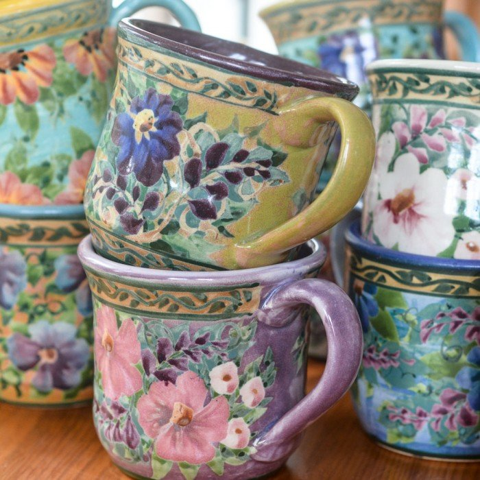 Sandy Kreyer Handpainted Mugs