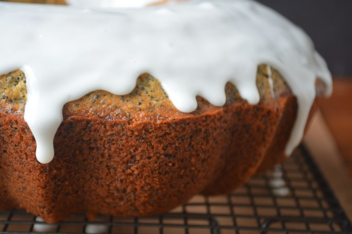 Glazed Grapefruit Poppy Seed Cake