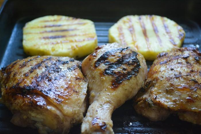 Jerk style Jamaican chicken