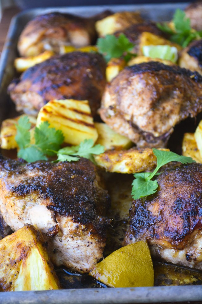 Jamaican Chicken with Rum and Pineapple