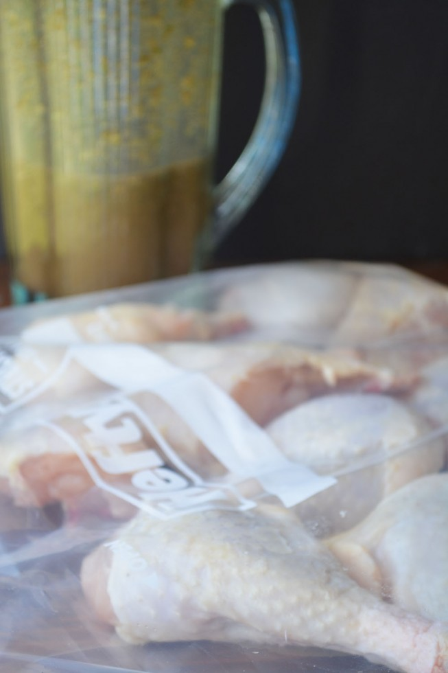 marinating chicken for Jerk Chicken