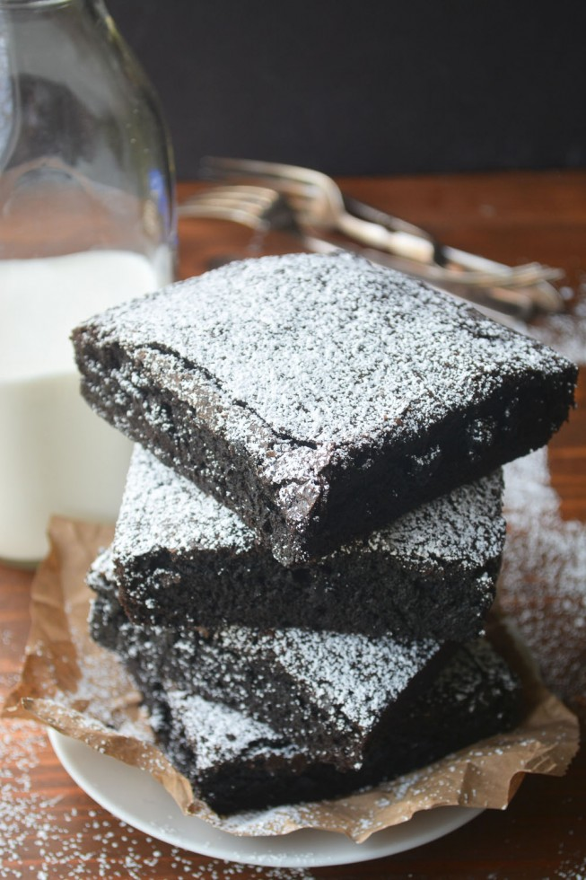 colossal brownies are big and cakey, but still super moist and chocolatey!