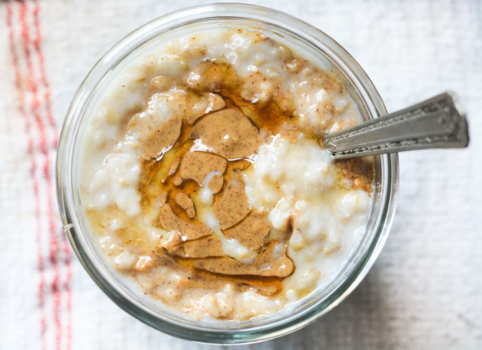 Overnight Crock-Pot Oatmeal with Almond Butter and Honey | The View from Great Island