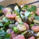 Roasted Brussels Sprouts and Pomelo Salad