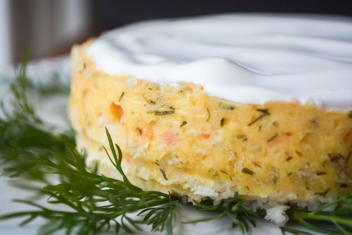 savory smoked salmon and smoked gouda cheesecake
