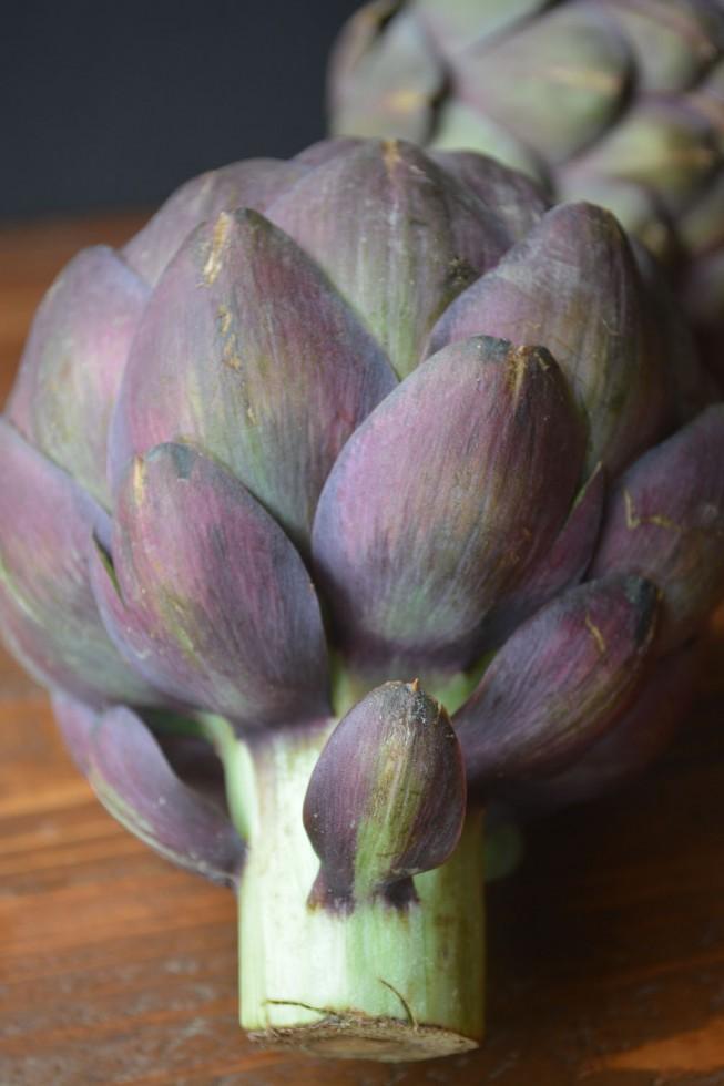 fiore viola (purple) artichokes