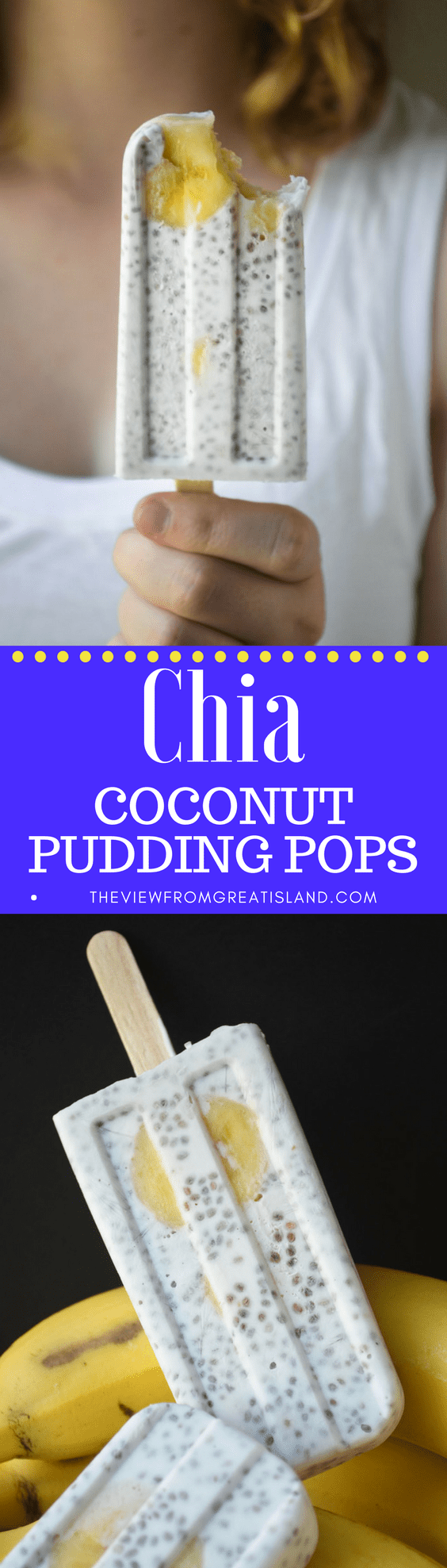 Chia Coconut Pudding Popsicles ~ a refreshingly delicious and healthy way to start the day, these vegan breakfast popsicles are worth getting out of bed for! #icecream #breakfast #healthypopsicles #healthydessert #healthykidsdessert