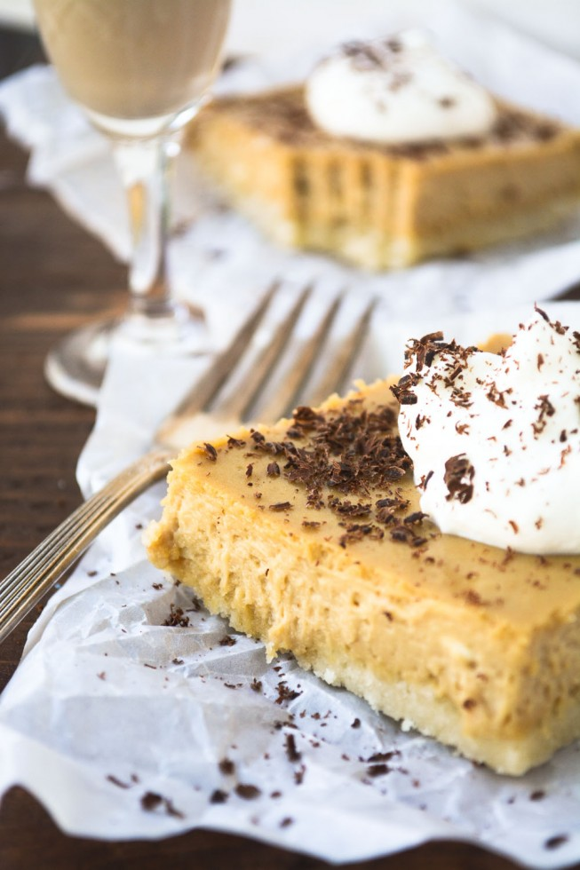 Cheesecake Bars with the flavors of Irish coffee blended right in