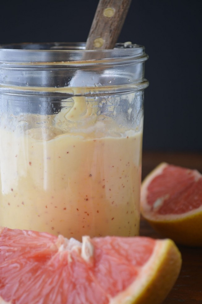 homemade grapefruit mayonnaise