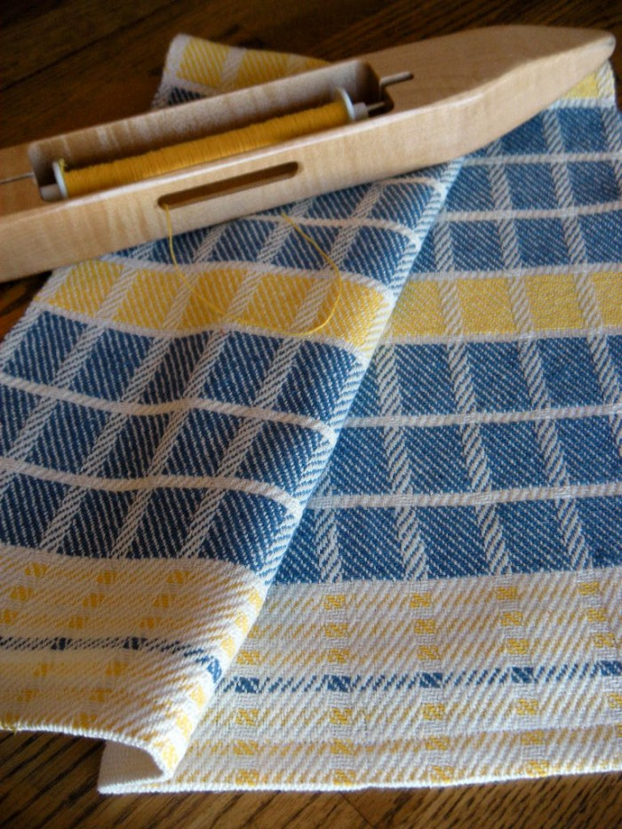 handwoven dish towle, American Artisans