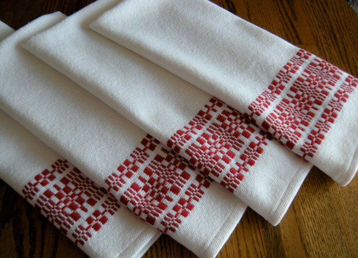 Thistle Rose Weaving Tea Towels