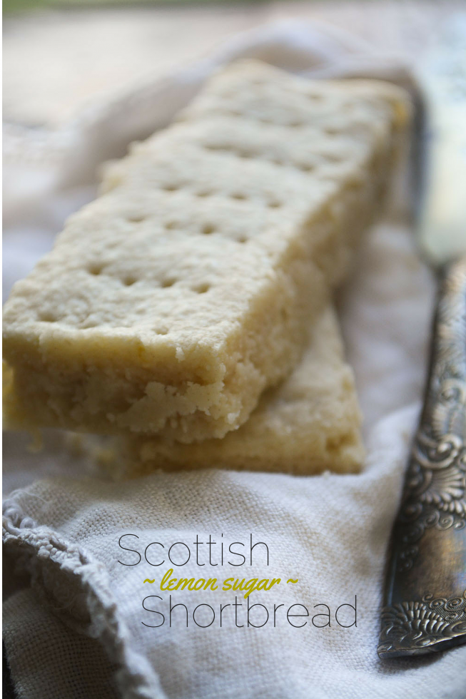 Scottish Shortbread made with lemon sugar
