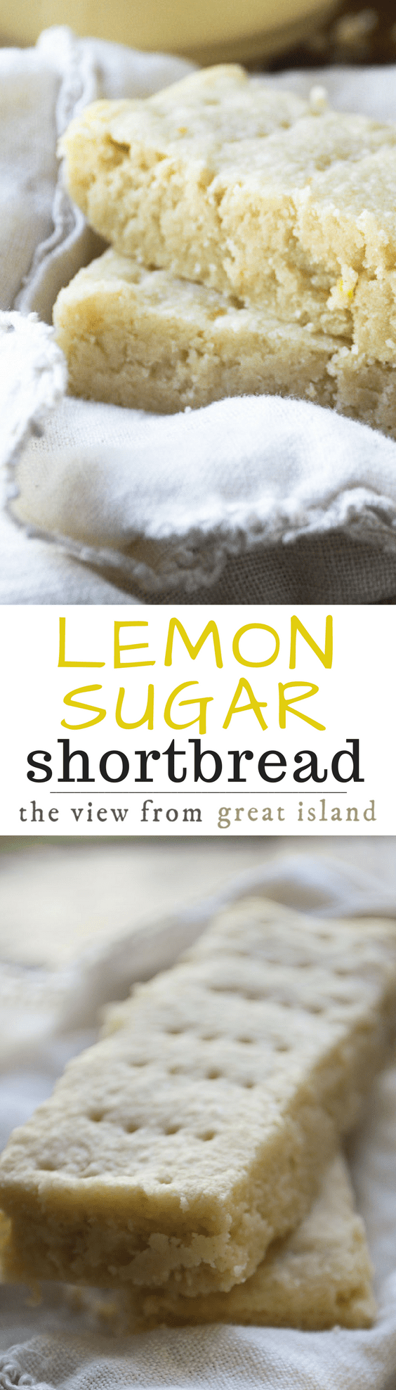 This unusual Scottish Lemon Sugar Shortbread is made with a fabulous sugar infused with lemon rind --- the lemon flavor really pops! Make these classic lemon dessert bars for high tea or everyday snacking...#dessert #shortbread #lemon #recipe #best #British #hightea #cookies #baking #lemondessert #afternoontea #tea #Scottish #bars #christmas