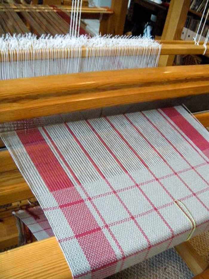 towel in progress, Thistle Rose Weaving
