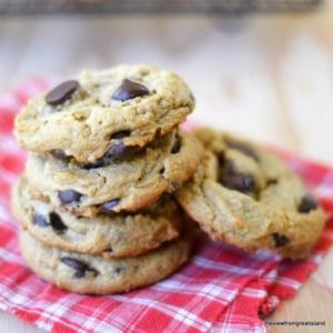 flourless peanut butter chocolate chip cookies
