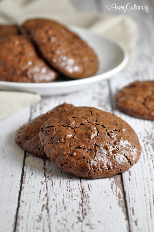 flourlesss chocolate pecan cookies
