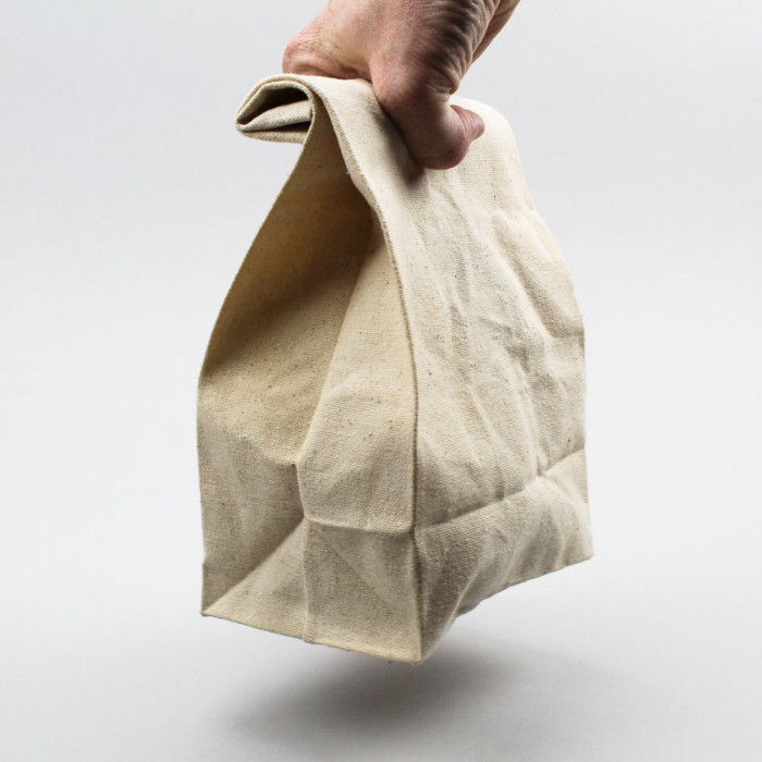 waxed reusuable 'brown bag'