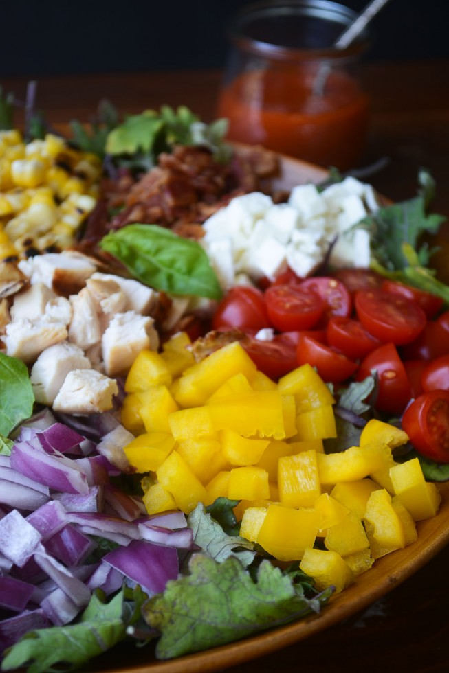 protein packed chopped salad