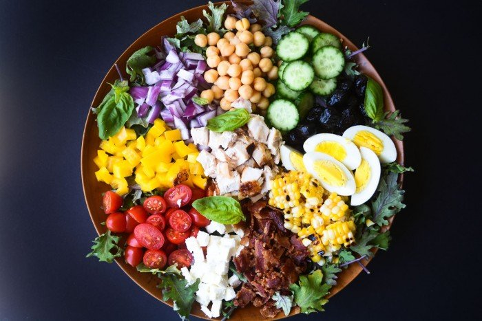 colorul and super healthy chopped salad