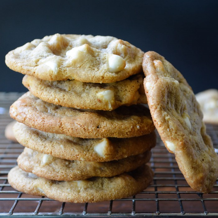 flourless macadamia white chocolate chip cookies