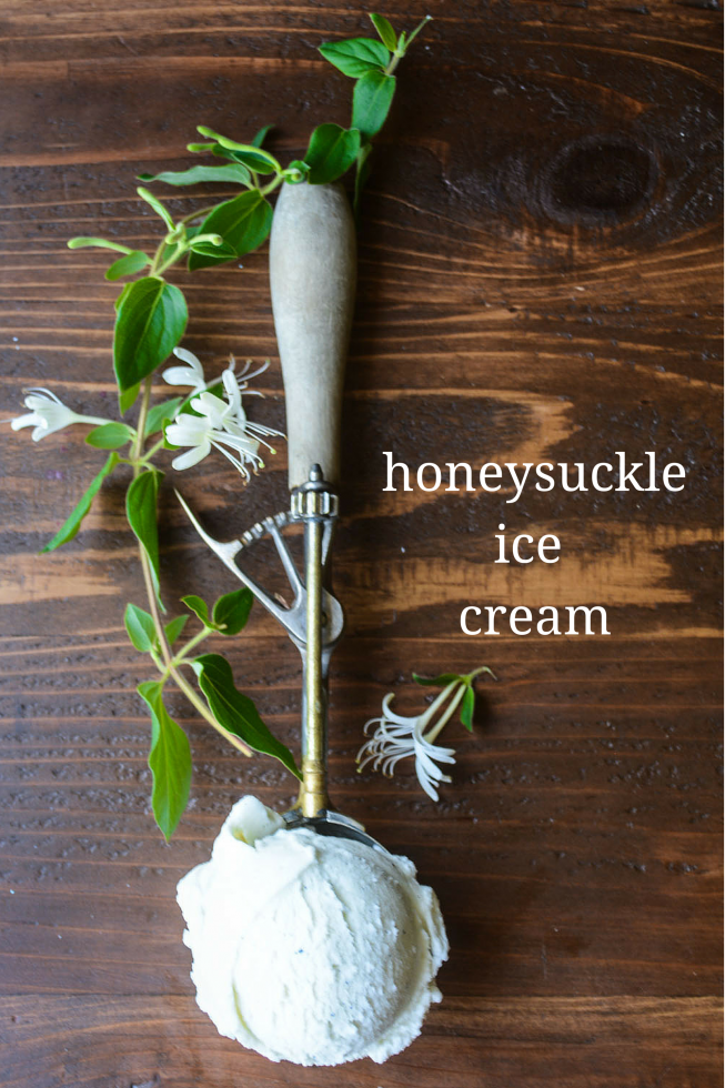 delicately flavored honeysuckle ice cream