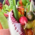 Individual Salad Cups with Rhubarb Vinaigrette
