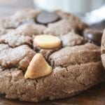 Flourless Chocolate Peanut Butter Chip Cookies