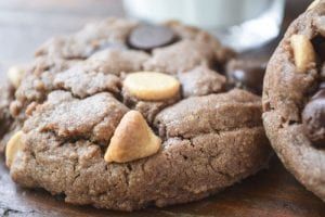 gluten free flourless chocolate peanut butter cookies