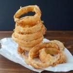 Sweet Walla Walla Onion rings with Basil Buttermilk dip